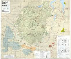 State Of Washington Map by Capitol Forest Washington