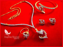 ruby necklace earrings images Cbu31 super saver four items zircon ruby shade party wear jpg
