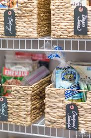 snack baskets organized pantry snack baskets with labels kelley nan