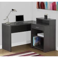 Walmart Furniture Computer Desk Monarch Computer Desk Grey Corner With Storage Walmart