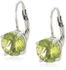 peridot earrings sterling silver peridot earrings with lever