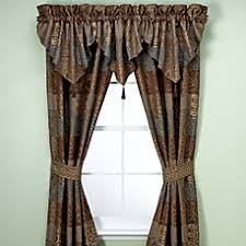 Chocolate Curtains With Valance Croscill Galleria Window Curtain Panel Pair And Valance In