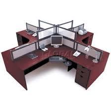 Office Desk Workstation Desks Office Collections Storlie 4 Person L Desk Workstation
