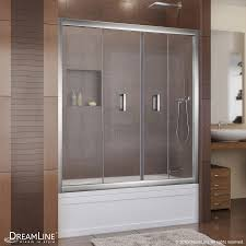 frameless glass bifold doors shop dreamline butterfly 57 5 in to 59 in frameless chrome bifold