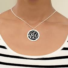 personalized monogram necklace fashionable gold silver monogram necklace designs
