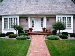 ideas landscaping ideas for front of house with walkway pavers