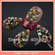 aliexpress buy new arrival 10pcs upscale jewelry aliexpress buy mns188 luxury colored rhinestones nail