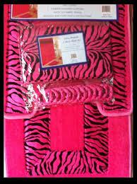 Red Bathroom Rugs Sets by Amazon Com 4 Piece Bath Rug Set 3 Piece Pink Zebra Bathroom Rugs