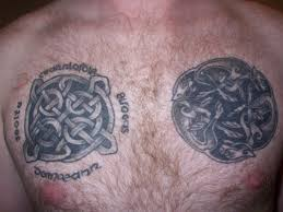 chest pictures of celtic crosses tattoo design idea for men and women