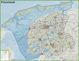Map Of Holland Michigan by Friesland Maps Netherlands Maps Of Friesland Province