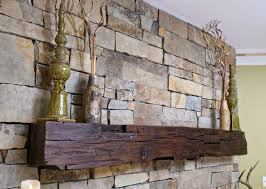 reclaimed wood fireplace mantel vintage living room wall decor