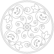 halloween mandala coloring pages for kids 2 funnycrafts