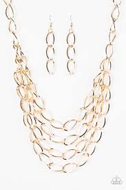 accessories chain necklace images Paparazzi accessories chain reaction gold jpg