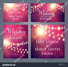 Invitation Cards Template Wedding Invitation Cards Template Set Soft Stock Vector 429008098