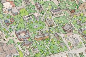 University Of Utah Campus Map by Architectural Illustration By Tom Gastel At Coroflot Com
