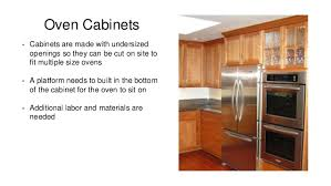 Kitchen Oven Cabinets Cabinet Training Presentation