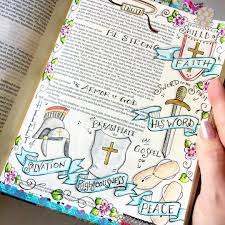 put on the full armor of god bible journaling by our grateful