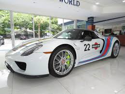martini porsche 918 factory fresh porsche 918 weissach is waiting for you in a florida