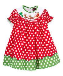 lil cactus red u0026 green polka dot bishop dress toddler u0026 girls