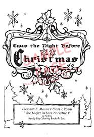 coloring books the night before christmas by clement c moore