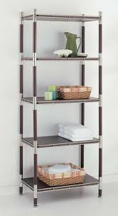 Shelving Units For Bathrooms Glass Bath Shelf And Wood Bath Shelves Organize It