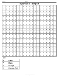 halloween color by number worksheets free worksheets library