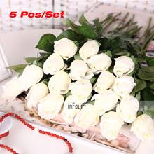 Fake Flowers For Home Decor Online Get Cheap Fake White Roses Aliexpress Com Alibaba Group