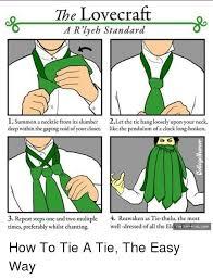 Meme Tie - 18 ways to tie a necktie four in hand knot how to tie a tie series