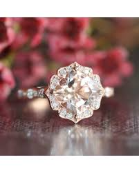 new savings on 14k gold vintage floral morganite engagement