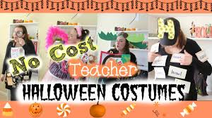ideas for homemade halloween costume four easy no cost teacher halloween costumes youtube