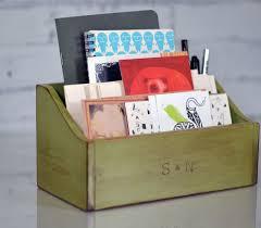 School Desk Organizers by Wooden Desktop Box Handmade Teachers Desk Organizer Back To
