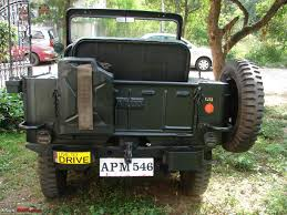 wwii jeep in action willys cj3a restored in hyderabad team bhp