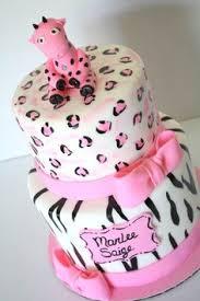 pink safari jungle baby shower cake my creations pinterest