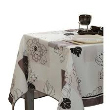 tablecloth for round table that seats 8 tablecloth ivory white floral blossom stain resistant washable