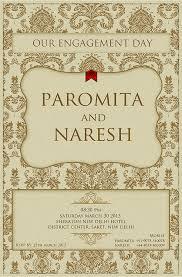 engagement ceremony invitation engagement ceremony invite paromita naresh on behance