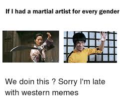 Martial Arts Memes - if i had a martial artist for every gender we doin this sorry i m