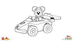 lego duplo disney mickey mouse racer coloring coloring