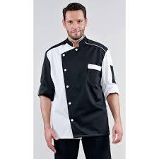 veste de cuisine homme noir veste de cuisine homme noir garni blanc nedouly rozen