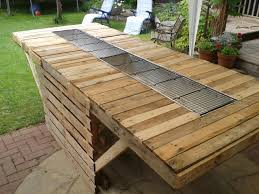 Patio Furniture Using Pallets - pallet bbq table google search outdoor kitchen pinterest