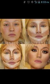 contouring and highlighting makeup