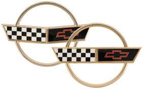 c4 corvette emblem c4 corvette 1991 1996 gold emblem set 2 pieces corvette mods