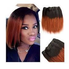 ombre weave 2 bundles human hair extensions ombre black bob