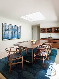 wood and metal dining table living room contemporary with area rug