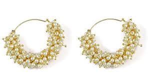 jhumki earring buy muchmore white brass jhumki earring for women online at low