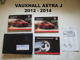 vauxhal astra j service manual booklet 2012 2014 used