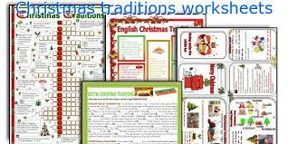 teaching worksheets traditions