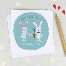 anniversary you re the bun for me anniversary card by wink