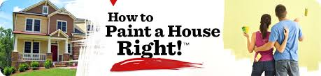 paint the house how to paint a house right
