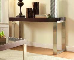 Chrome And Glass Sofa Table Furniture Fascinating Homelegance Charlaine Half Moon Glass Sofa