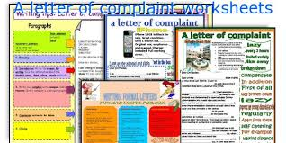 english teaching worksheets a letter of complaint